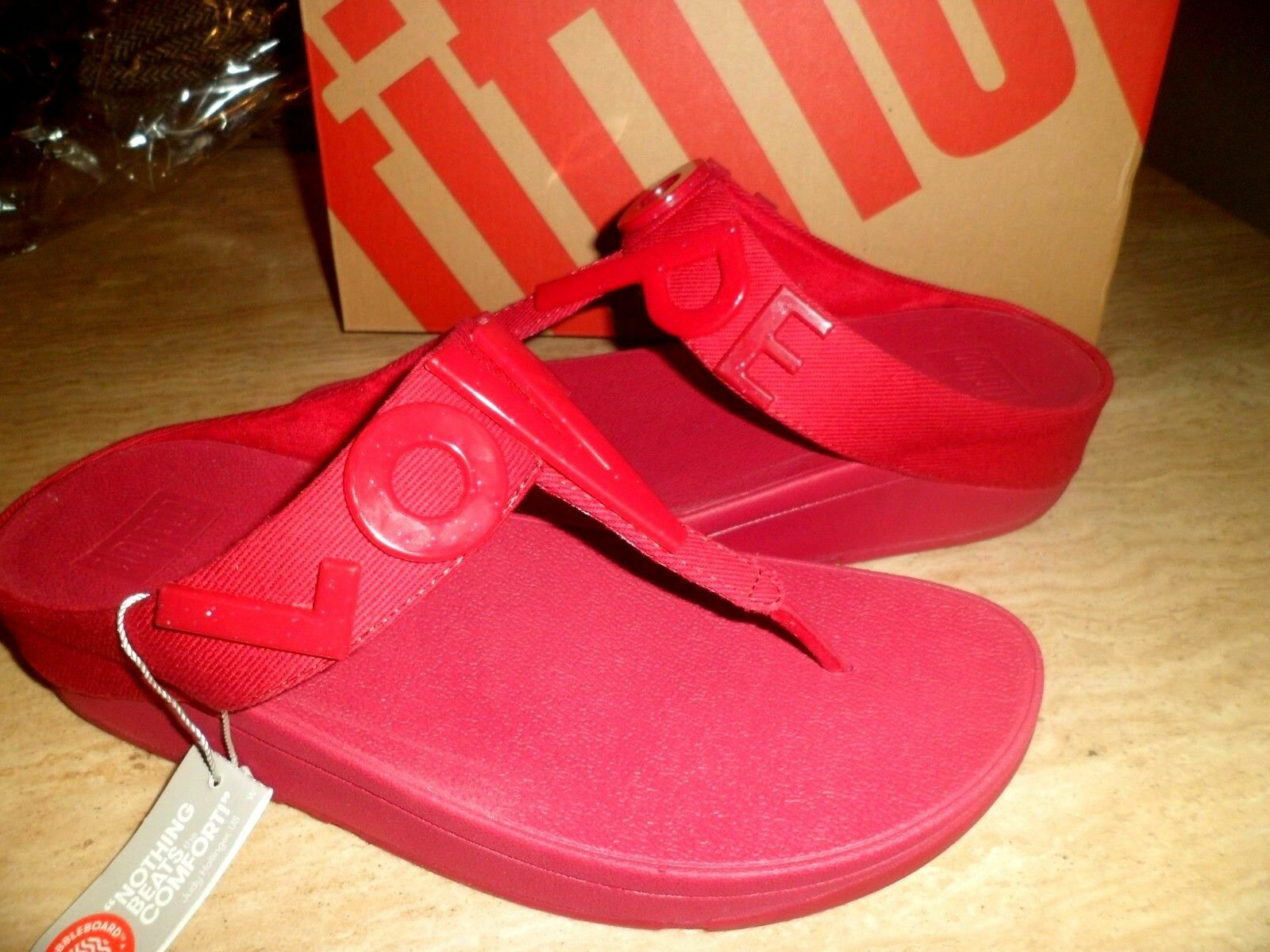 BNWT FitFlop Love & Hope Raspberry Sandales UK 6 EU 39