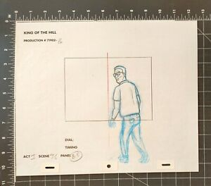 KING OF THE HILL CARTOON ANIMATION ART PENCIL CEL DRAWING HANK LOOKING ANGRY