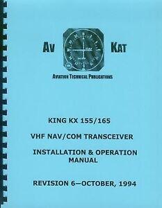 king kx 155 kx 165 nav com installation manual ebay rh ebay com KX 155 for Cell Photo king kx 155 manual