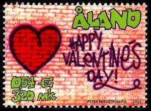 SELLOS-FELICITACIONES-ALAND-2001-190-SAN-VALENTIN-1v