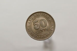 MALAYA-amp-BORNEO-50-CENTS-1961-HIGH-GRADE-B18-K3211