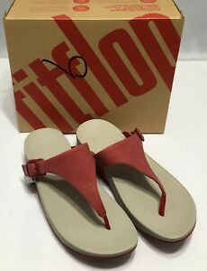 6fbd547e9 Fitflop The Skinny Classic Red Womens Canvas Toe Thong Flip-Flop ...