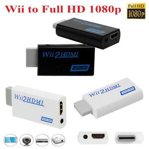 Full-HD-1080p-Wii-a-HDMI-Mejora-Adaptador-Convertidor-3-5mm-salida-de-audio
