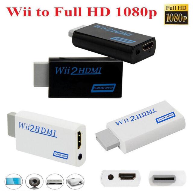Full HD 1080p Wii a HDMI Mejora Adaptador Convertidor + 3.5mm salida de audio