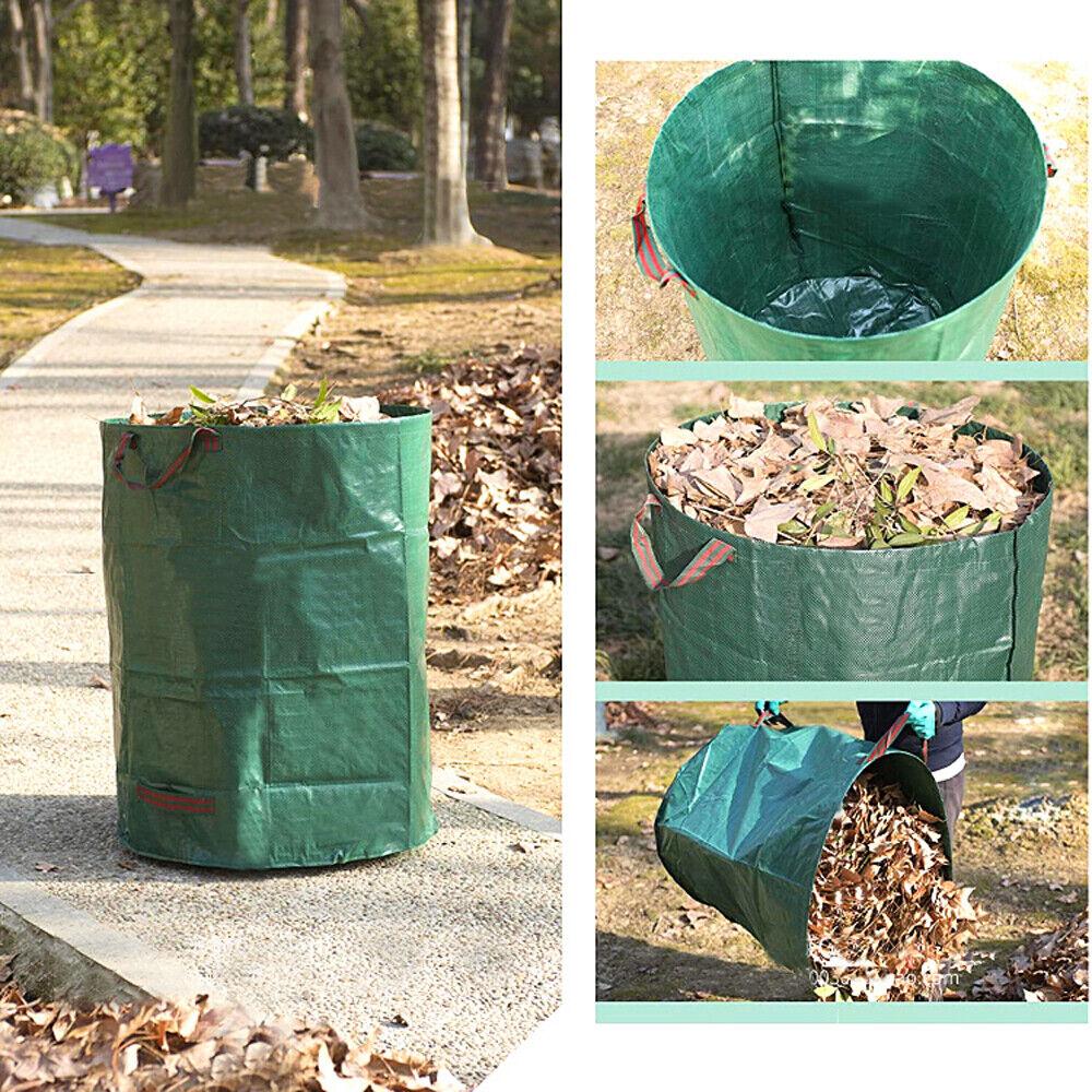 60L-500L Heavy Duty Garden Waste Bags Weeds Leaves Large Refuse Storage Sacks