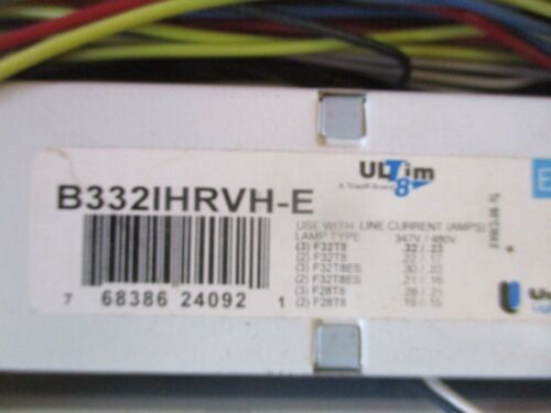 UNIVERSAL//TRIAD B3321HRVH-E010C 347-480V FOR 3 -NEW F32T8 LAMP 1 BOX OF 10