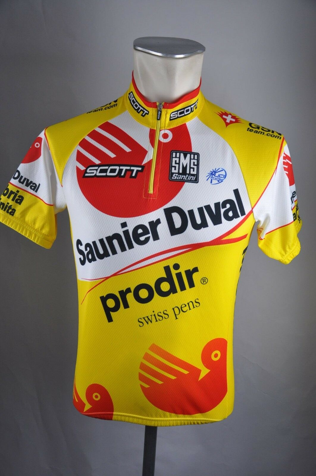 Santini Team Saunier Duval Jersey Size S 42  BW 48cm Bike Cycling Jersey Shirt hz1  with 100% quality and %100 service