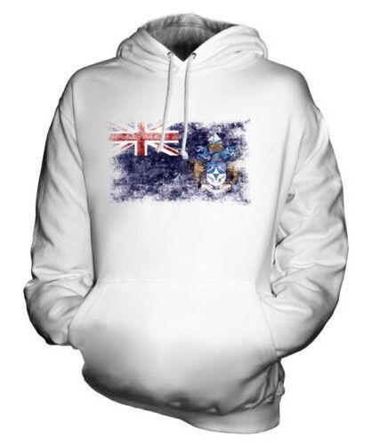 Tristan da Cunha Distressed Flagge Unisex Kapuzenpulli Top Geschenk Kleidung
