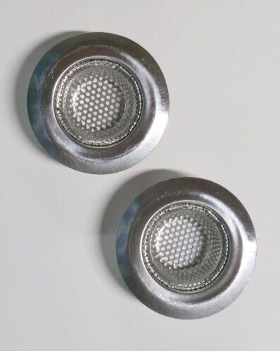 2 Steel Sink Strainers Bath Sink Heavy Duty 7 cm Outer 4 cm Inner 1.5 cm Deep