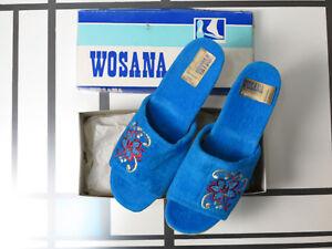 Boutique Pantoffeln Pantolette Damen Hausschuh 70er True Vintage 70s Slipper Women's Vintage Shoes Slippers