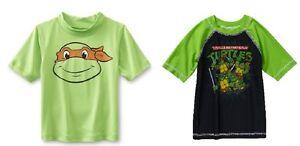 99ff2747e8 Details about Teenage Mutant Ninja Turtles Toddler Boys Rashguard Swim Shirt  2 Choices NWT