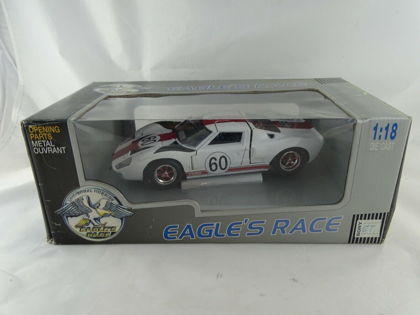 1 18 EAGLE RACE FORD GT  60 Bianco-rarità