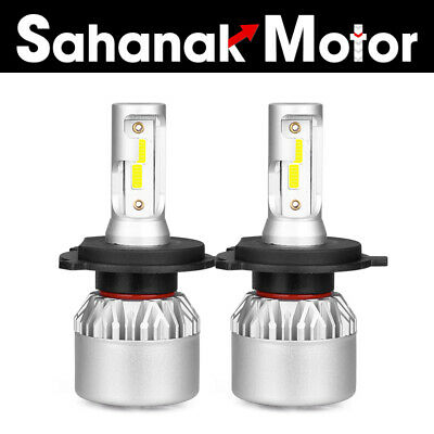 2PCS COB H4 HB2 9003 72W 8000LM LED Headlights Kit Hi//Lo Power Bulbs 4300K