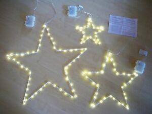 LED-Deko-Stern-Set-3-tlg-Blanche-Indoor-Outdoor-geeignet-ca-20-38-55-cm