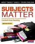 Subjects Matter: Exceeding Standards Through Powerful Content-Area Reading by Harvey  Smokey  Daniels, Steven Zemelman (Paperback / softback, 2014)