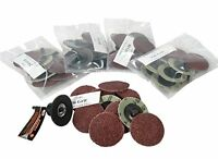 50-pc 2-inch Roll Lock Sanding Disc 24 36 60 80 120 Grit Assortment With Mandrel on sale