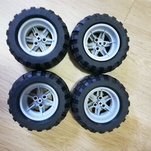 LEGO-PARTS-x4-Weels-Tire-94-8-x-44-R-Balloon-Excellent