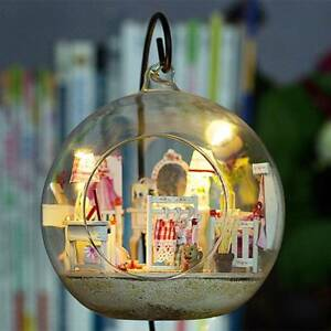 Mini-Glass-Ball-Model-DIY-Wooden-Doll-House-Kit-Miniature-Hut-Decor-Holiday-Gift