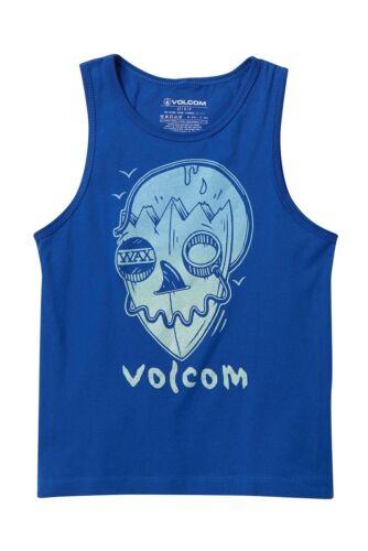Volcom Little Boys Youth Sleeveless 5 Tank Top T-Shirt Tee Blue Surf Skull NWT
