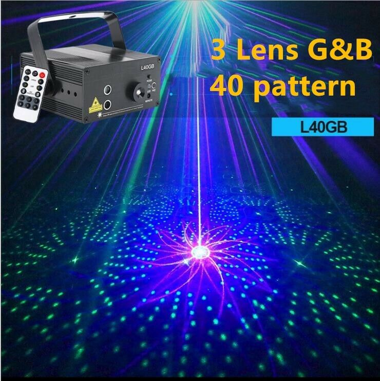 Remote Blue Green Laser LED Christmas DJ KTV Pub Event Home Party Decor Light Yc