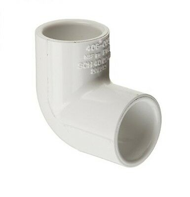 "10 PACK 1/2"" PVC 90 DEGREE ELBOW SCHEDULE 40 SLIP x SLIP PLUMBING"