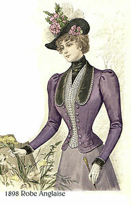 Victorian Pattern for 1898 Cloth Jacket - Sized for you