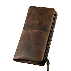 Men Leather Fashion Business Card Holder Design Wallet Organizer