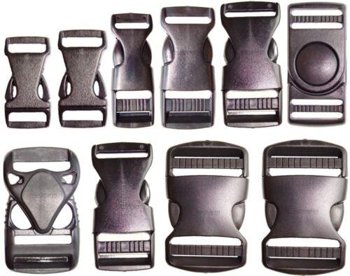 Steckschnalle Kunstoff 10//16//25//30//40//50mm Plastik Gurtschnalle Steckverschluss
