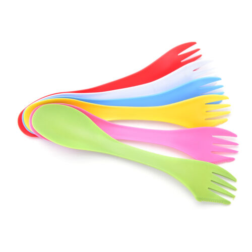 6X multifunction Camping Hiking Utensils Spork Combo Travel XBdget Spoon FoUUEX