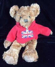 Russ Archie Teddie Bear UK British Flag Red Shirt Plush Soft Toy Stuffed