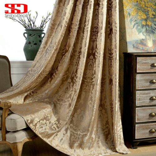 European Damask Curtains For Living Room Luxury Jacquard Blind Drapes Window