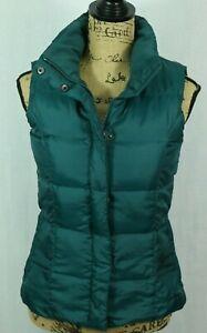 Eddie-Bauer-Premium-Goose-Down-Vest-Women-039-s-XS-Quilted-Puffer-Full-Zip-Pockets