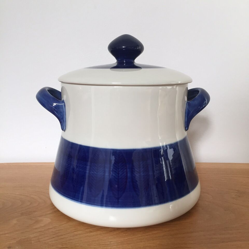 Porcelæn, Gryde med låg, suppeterrin