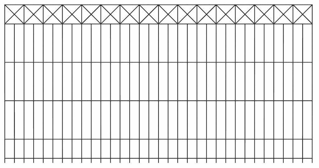 Doppelstabmatten Zaun Nexus ist ein Schmuckzaun eine 128cm hohe Gittermatte