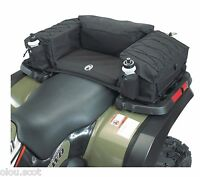 Black Atv Rear Saddle Bags W/extra Padded Seat Atv Black Storage Pack Atv Seat