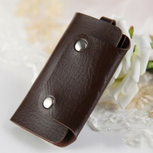 Women Men/'s Key Holder Case Key Chain Wallet Key Ring Pouch Bag Faux Leather 1PC