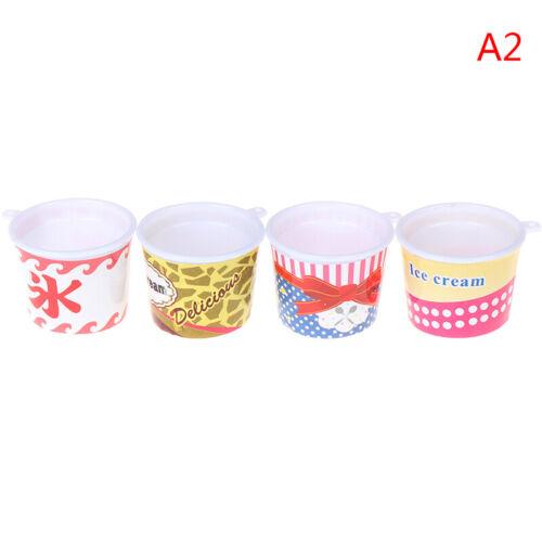 4pcs//set Dollhouse Miniature Plastic Cups Mini Ice Cup DIY T xgTEUS