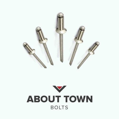 4.0mm (x Choose Length) Countersunk Open Aluminium Steel Blind Pop Rivets