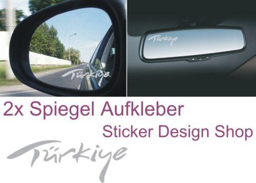Türkiye Spiegel Aufkleber Sticker Auto Laptop Handy Glasgravur Folie Türkei