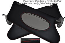 RED STITCHING FITS ROVER 75 MG ZT 1999-2005 2X SUN VISORS LEATHER COVERS ONLY
