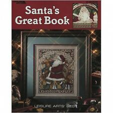 Christmas Santa's Great Book Cross Stitch Pattern Book - 39 Christmas Designs