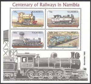 Namibia-1995-Steam-Engine-Trains-Rail-Railways-Transport-reprint-4v-m-s-b7766