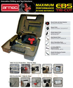 ARMEG-EBS-Tri-Cut-DOUBLE-Backing-Box-Electrical-Socket-Box-Cutter-amp-Chisel-KIT