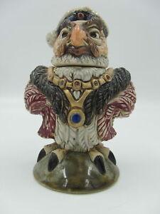 Burslem-Pottery-Andrew-Hull-King-Henry-VIII-Martin-Bros-Inspired-Bird