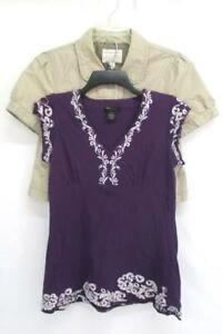 Lot-of-2-Women-039-s-Clothing-Aeropostale-Jacket-amp-BCBG-Purple-Cap-Sleeve-Sz-Medium