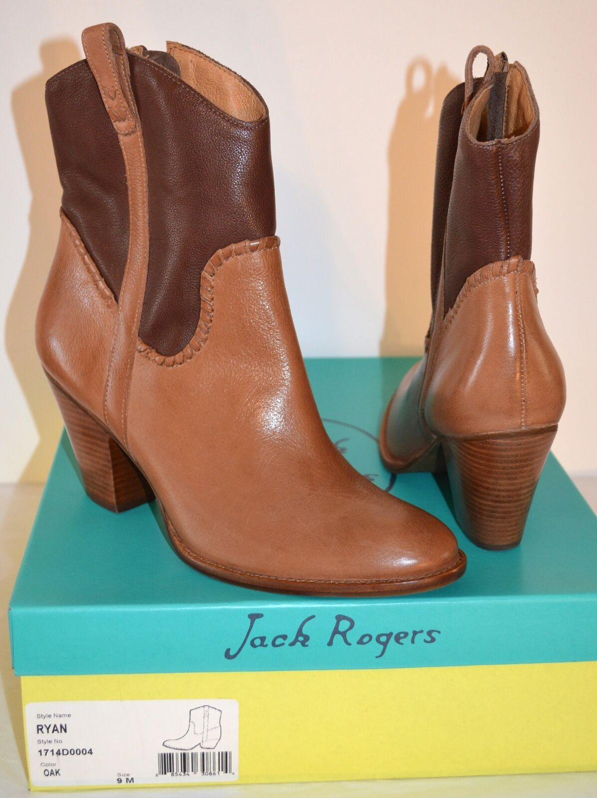 New  228 Jack Rogers Ryan Oak Short Brown Leather Short Oak Cowboy Boot f075c7