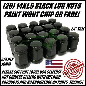 20-BLACK-LUG-NUTS-14X1-5-DODGE-CHALLENGER-CHARGER-HELLCAT-CHEVY-CAMARO-SS-ZL1
