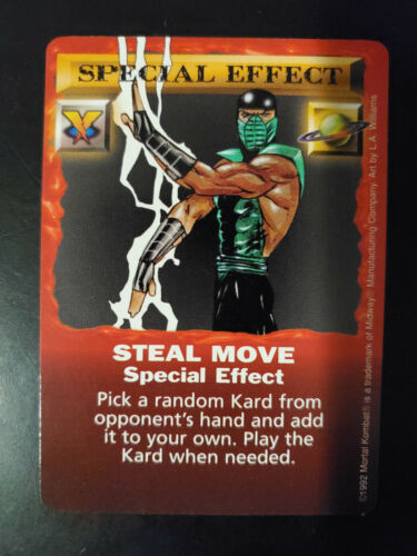Mortal Kombat Kard Game Red Border Edition Rare Gold Cards Special Effect