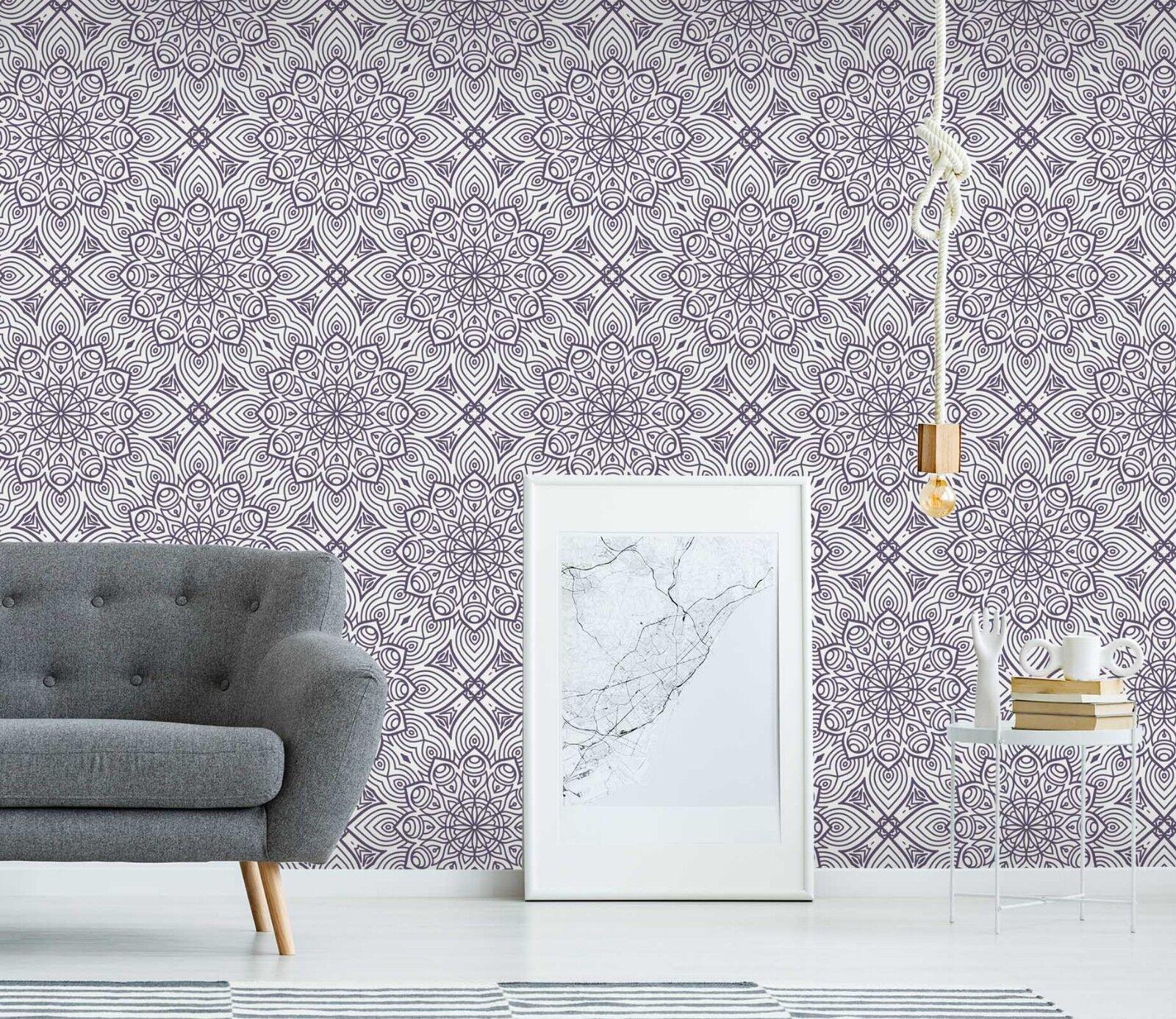 3D Lotus Floral Purple 1 Wallpaper Mural Wall Print Decal Indoor Murals AU Lemon