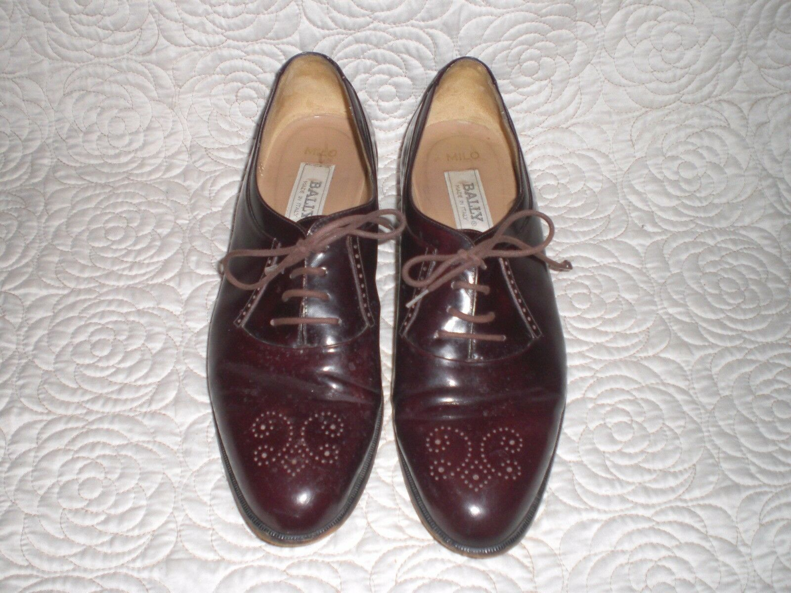 Bally MILO Leather Medallion Cut Oxfords Made in  Dress schuhe 11 B